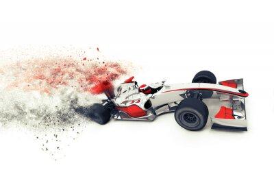 Fototapeta Superszybki 3D Race Car generycznych
