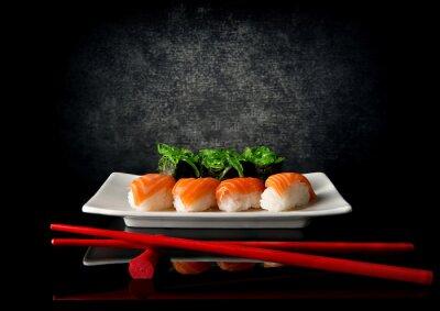 Fototapeta Sushi pałeczkami