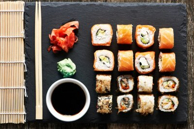 Fototapeta Sushi rolkach