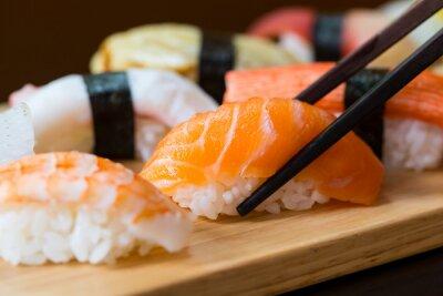 Fototapeta Sushi set, Japanese food