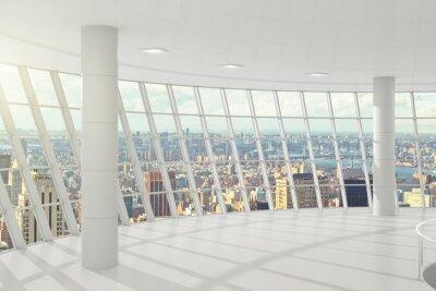 Fototapeta Światło duże biuro z oknami w podłodze