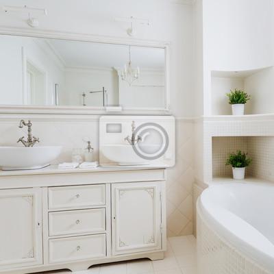 Fototapeta światło łazienka Z Dwoma Umywalkami