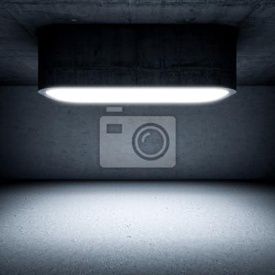 światło na betonowym pokoju
