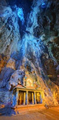 Fototapeta Świątynia w środku pieczary w kompleksie Batu Caves świątyni w Kuala Lumpur
