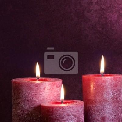 Fototapeta Świece na fioletowym tle