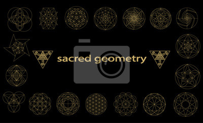 Fototapeta święte Symbole Geometrii I Signes Ilustracji Wektorowych Hipster
