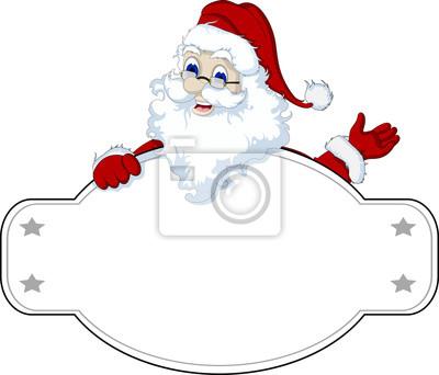 Fototapeta Święty Mikołaj z pustym znakiem