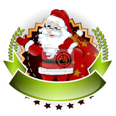 Fototapeta Święty Mikołaj z pustym znakiem dla ciebie wzorem