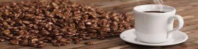 Fototapeta Świeża kawa z wielu ziaren kawy