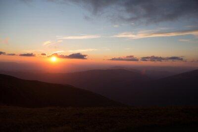 Fototapeta Świt w górach