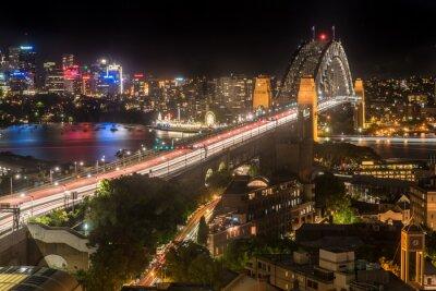 Fototapeta Sydney Harbour Bridge w nocy