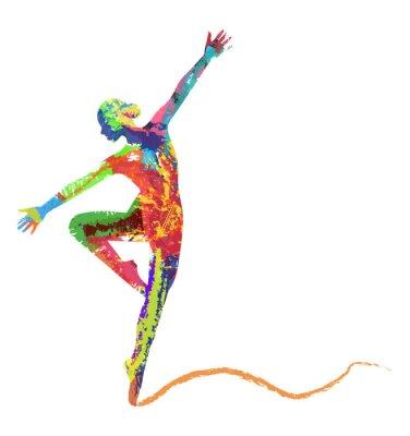 Fototapeta sylwetka baleriny bo Colori di composta