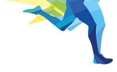 Fototapeta Sylwetka człowieka z systemem Nogi przezroczyste nakładki kolory
