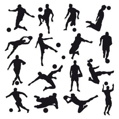 Fototapeta Sylwetki Soccer