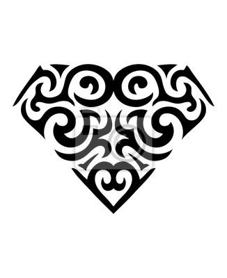 Fototapeta Symbol Diament Tatuaż
