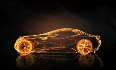 Fototapeta Symbol światła samochodów