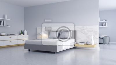 Fototapeta Sypialnia I Nowoczesny Styl Loft Przytulne Białe I Szare Pomieszczenia