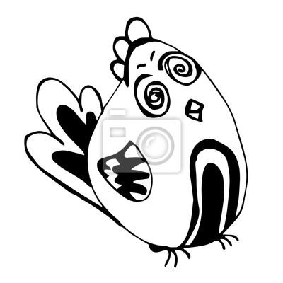 Szalony Ptak Ołówkiem Rysunek Fototapeta Fototapety Dziecinada
