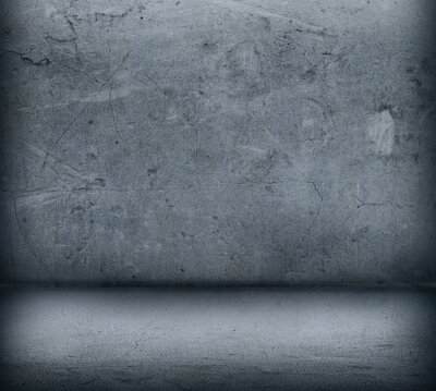 Fototapeta Szare betonowe ściany i podłogi z bliska
