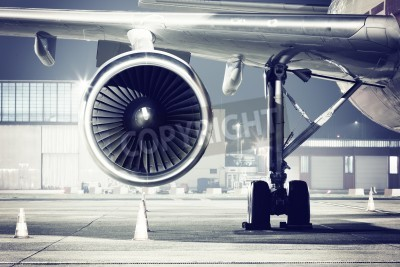 Fototapeta szczegół turbiny samolotu