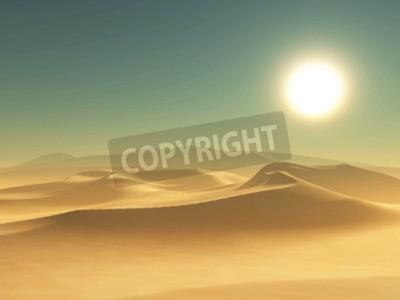 Fototapeta Szczegółowa ilustracja pustyni tle