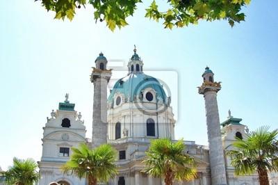 Szczegóły Karlskirche w Wiedniu, Austria