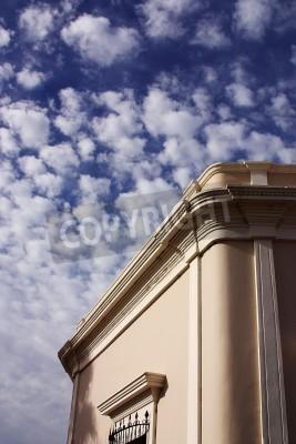 Fototapeta szczegóły na rogu domu z nieba tyle w mieście Alamos, w północnej części stanu Sonora w Meksyku, Ameryce Łacińskiej