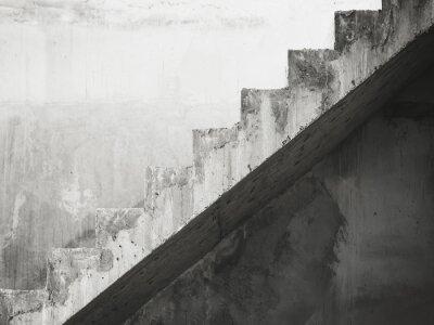 Fototapeta Szczegóły Schody architektura budynku Black and White