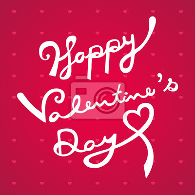 Fototapeta Szczęśliwego Walentynki ręcznie narysować