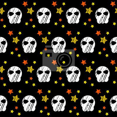 Szczęśliwy Halloween Bez Szwu Deseń Tła Streszczenie Halloween