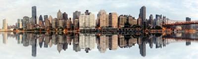 Fototapeta Szeroki kąt panoramy Nowego Jorku
