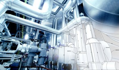 Fototapeta Szkic konstrukcji rurowej mieszać z urządzeń przemysłowych zdjęcie