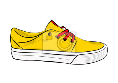 f769631b58866 Fototapeta Szkic obuwia sportowego, trampki na lato. Ilustracji  wektorowych. Odzież sportowa dla kobiet