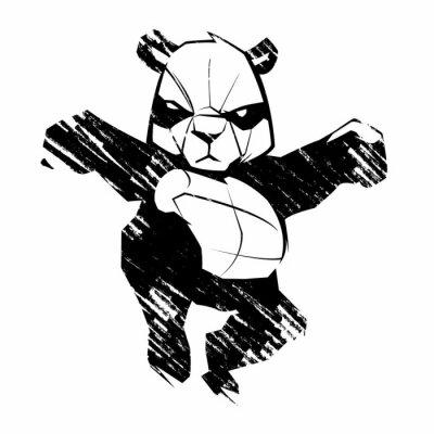 Fototapeta Szkic panda sztuki walki