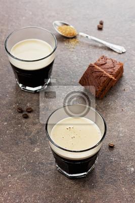 Szkło espresso z ciasto czekoladowe