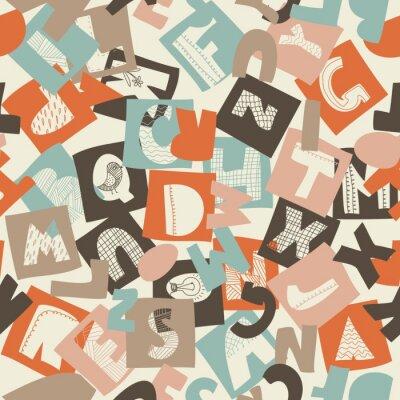Fototapeta szwu alfabet