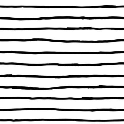 Fototapeta Szwu - atramentowe poziome linie