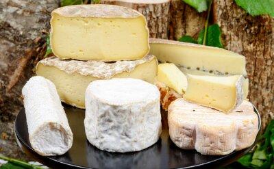 Fototapeta Taca z różnych serów francuskich