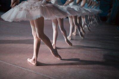 Fototapeta Tancerze w białym tutu zsynchronizowany taniec