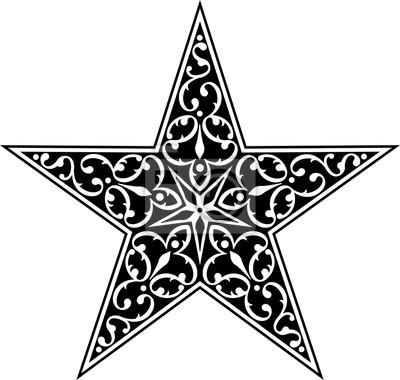 Tatuaż Gwiazda Symbol Fototapeta Fototapety 5 Gotowy Godło