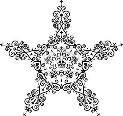 Tatuaż Gwiazda Symbolu Fototapeta Fototapety 5 Gotowy Godło