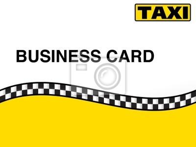 Fototapeta Taxi Taxi Visitenkarte Wizytówka Nr 2