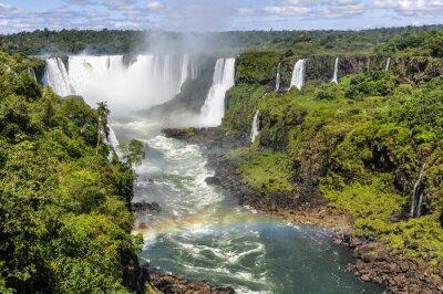Fototapeta Tęcza na Diabelskie Gardło w Iguazu Falls, Brazylia