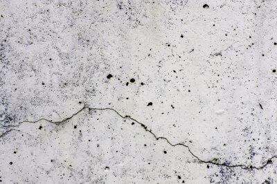 Fototapeta Tekstura di sfondo di un muro w Cemento, con crepa che Scorre orizzontalmente