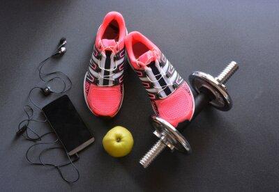 Fototapeta tenisówki, odzież do fitness