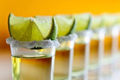 Fototapeta tequila, wapno i sól