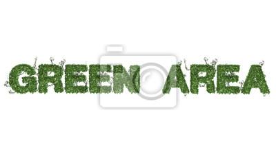 Fototapeta Teren zielony - logo z liści bluszczu - rozdzielone na białym BG