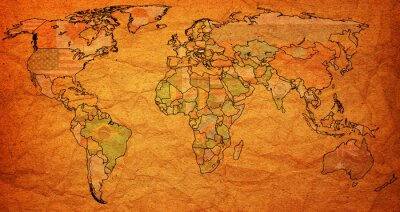 Fototapeta terytorium Węgier na mapie świata