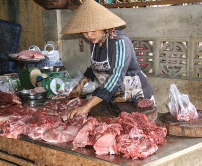 Fototapeta The Butchers sklep w starożytnego miasta Hoi An, Wietnam