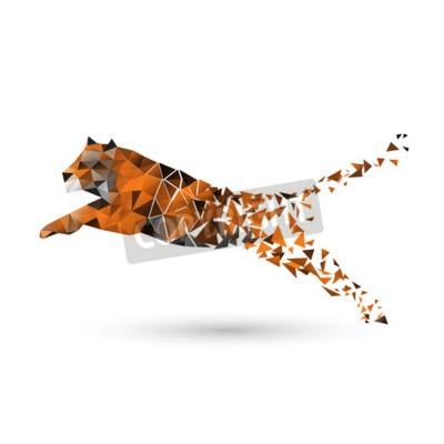 Fototapeta Tiger wielokątów